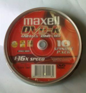 Đĩa DVD Maxell lốc 10 cái