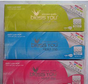 Khăn giấy hộp Bless you (180 tờ)