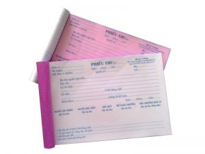 Phiếu thu/ chi /xuất/ nhập kho, giấy perlure 13x19 ,giấy tái sinh