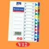 Bìa phân trang nhựa A4 12 số Nitrasa